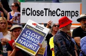 لاجئو استراليا يخشون الغاء اتفاق نقلهم لأمريكا