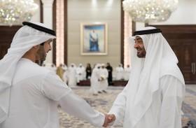 محمد بن زايد يستقبل جموع المواطنين وأعضاء الوطني الاتحادي المهنئين بحلول شهر رمضان