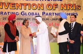 رئيس المجلس العالمي للتسامح يحصل على وسام المهاتما غاندي