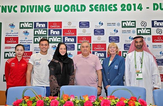 مشاركة واسعة لأبطال العالم والأولمبياد في بطولة العالم للغطس فينا-إن في سي دبي 2014