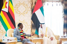محمد بن زايد يبحث مع رئيس زيمبابوي تعزيز علاقات التعاون بين البلدين