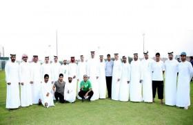 أحمد بن صقر يشكر وقفة كل رياضيي إمارة رأس الخيمة خلف الصقور