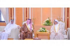 حاكم عجمان يستقبل القنصل السعودي