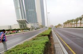 بلدية مدينة أبوظبي تنفذ أعمال المرحلة الأولى و الثانية للتجميل الطبيعي في الجزيرة الوسطية لكورنيش أبوظبي