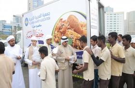 خيرية الفجيرة توزع 61.500 وجبة طعام في عام التسامح