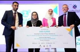 طالبة بالخليج الطبية في عجمان تحصد المركز الأول  في مجال بحوث طلبة الجامعات