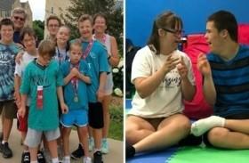 تبنت 5 أطفال مصابين بمتلازمة داون