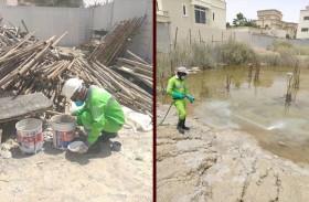 تدوير تواصل جهودها لمكافحة الآفات الناقلة للأمراض في المواقع الإنشائية بإمارة أبوظبي