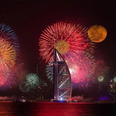 برج العرب في احتفالات رأس السنة 2013