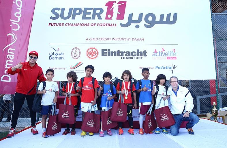 ضمان تعلن عن الفائزين في دورة سوبر11 لكرة القدم لعام 2014