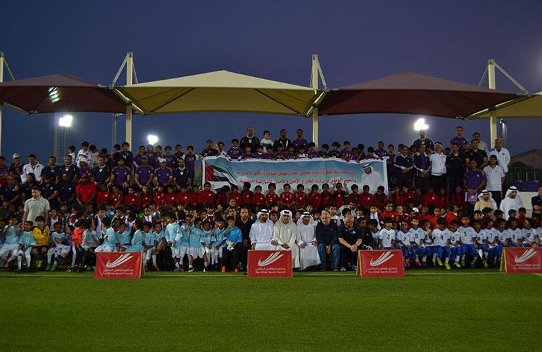 220 لاعباً في أولى محطات مهرجان مجلس أبوظبي الرياضي لمدارس الكرة في العين