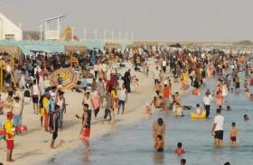 أكثر من 224 ألف زائر لشواطئ أبوظبي خلال أيام عيد الفطر