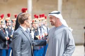 محمد بن زايد والرئيس الفرنسي يبحثان في باريس علاقات البلدين والتطورات الإقليمية