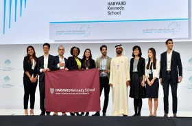 محمد بن راشد يكرم طلاب مشروع من هارفارد