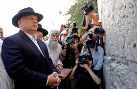 اوربان يزور حائط البراق في القدس المحتلة