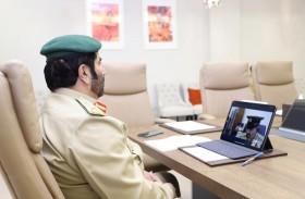 اللواء السلال يترأس اجتماع قطاع شؤون الإدارة في شرطة دبي عن بُعد