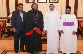 حاكم الفجيرة يلتقي ممثل الكنيسة المسيحية السورية في الهند