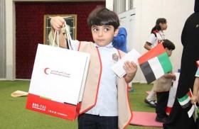 فروع الهلال الأحمر تنفذ فعاليات وأنشطة مجتمعية وإنسانية في يوم الطفل الإماراتي