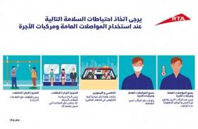 طرق دبي تتخذ إجراءات إضافية لضمان أعلى مستويات الحماية لصحة مستخدمي المترو والحافلات ومركبات الأجرة