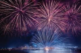 جزيرة ياس تضيء سماءها بعرض مميز للألعاب النارية احتفاءً بعيد الفطر السعيد