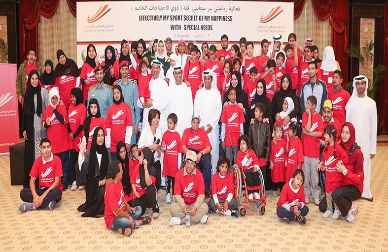 انطلاقة رائعة لفعاليات مهرجان مجلس أبوظبي الرياضي بشعار رياضتي سر سعادتي