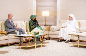 عبدالله بن زايد يستقبل نائبة الأمين العام للأمم المتحدة في إكسبو 2020 دبي