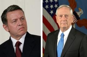 ماتيس يبحث مع عاهل الأردن أزمة سوريا