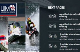 الدراجات المائية تدشن موسم السباقات الدولية 2020