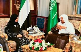 أمل القبيسي ورئيس «الشورى السعودي» يؤكدان عمق العلاقات الإماراتية السعودية