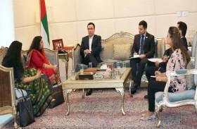 سفير الدولة يلتقى مفوض الصناعات بحكومة ولاية غوجرات الهندية