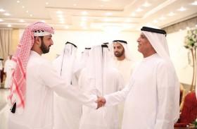 حاكم رأس الخيمة يستقبل المهنئين بشهر رمضان المبارك