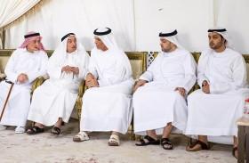 حاكم رأس الخيمة يعزي بوفاة هند سيف الغرير في دبي