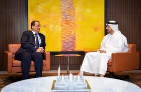 عبدالله بن زايد يبحث مع ولد الشيخ تطورات الأوضاع في اليمن