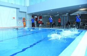 اتحـــاد الشرطـــة الرياضـــي يختتـــم منافســـات السباحـــة بـــرأس الخيمــــة