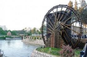 ترميم أكبر نواعير مدينة حماة في سوريا