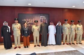 شرطة دبي تستقبل مدير عام الدفاع المدني
