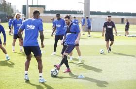 ميسي يعاود التمارين مع برشلونة