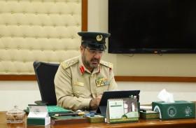 مدير أكاديمية شرطة دبي يترأس اجتماعا استثنائيا عن بعد لمناقشة سير العملية التعليمية