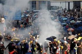 محتجو هونغ كونغ يريدون ضغطا امريكيا على الصين