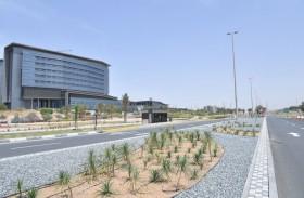 بلدية مدينة أبوظبي تطور الطرق والتقاطعات وتحسن المظهر العام في المنطقة المحيطة بمدينة شخبوط الطبية