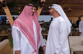 محمد بن زايد ومحمد بن سلمان يشهدان ختام منافسات الفورمولا إي الدرعية 2018