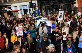 مظاهرة في لندن للمطالبة باستفتاء حول «بريكست »