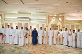 محمد بن زايد وحاكما أم القيوين ورأس الخيمة يحضرون أفراح المهيري والسويدي