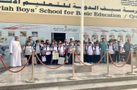مرور الفجيرة يطلق حملة السلامة المرورية لطلبة المدارس
