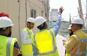 مصبح مبارك المرر يترأس حملة تفتيشية على مواقع البناء والإنشاء في أبوظبي