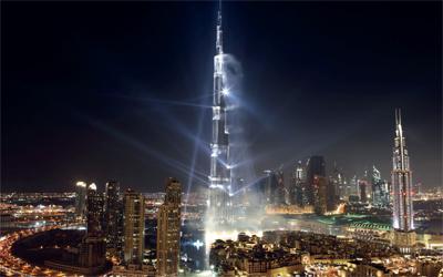 برج خليفة في احتفال رأس السنة 2013
