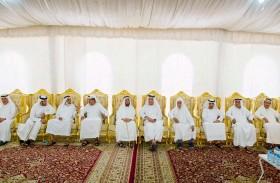 حاكم رأس الخيمة يقدم واجب العزاء لأسرة بوالحمام النعيمي