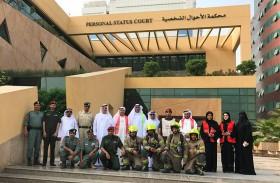 نجاح تجربة «الإخلاء الوهمي» لمحاكم دبي في مبنى الأحوال الشخصية