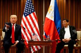 ترامب يشيد من مانيلا بعلاقته مع دوتيرتي