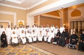 محمد بن راشد يلتقي أعضاء منتخب الإمارات لأصحاب الهمم